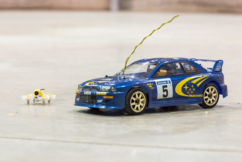 Phil's Impreza WRC compared to Nathan's Inductrix FPV.