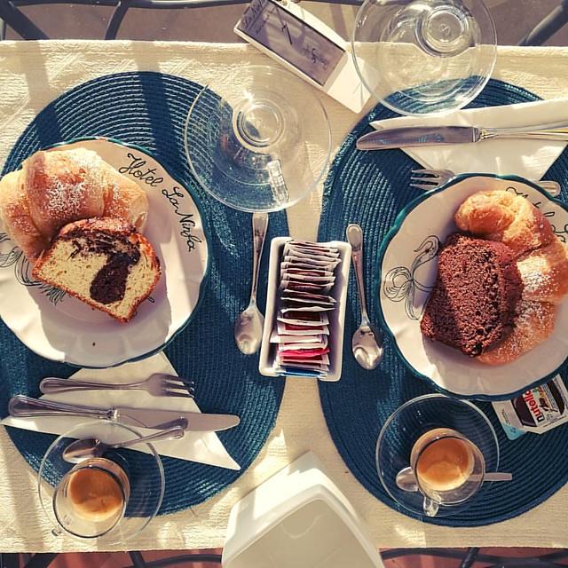 Breakfast in Amalfi. . . . #breakfastpic #breakfast #coffee #coffeelover #amalficoast #amalfi #instatravel