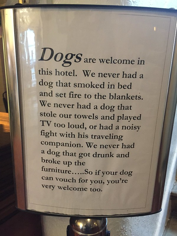 Dog friendly hotel in Stockbridge