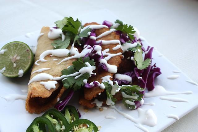 sweet potato tacos with miel de piloncillo by cocinadecella.com