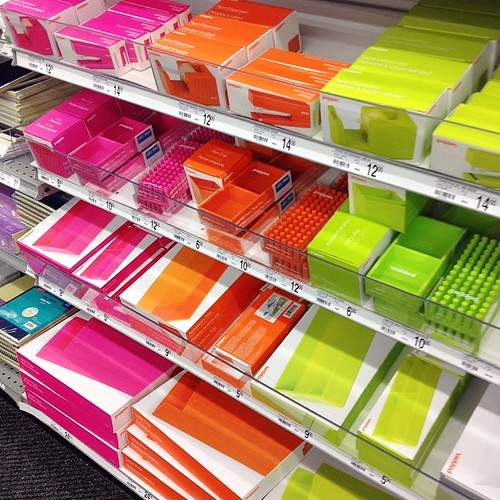 LOVE this Poppin brand of office supplies @staples - lime green and orange are @simplysweetscakestudio colors! Had to get some pens. #lovefunofficesupplies #staples #smallbusinessowner #limegreen #orange