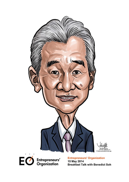 digital caricature for EO Singapore - Benedict Soh
