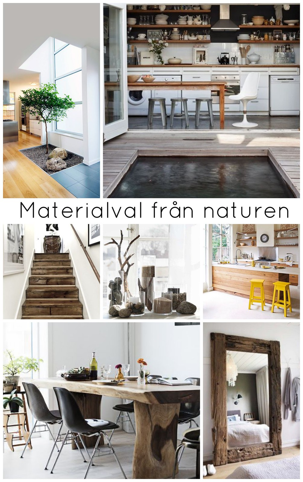Materialval från naturen
