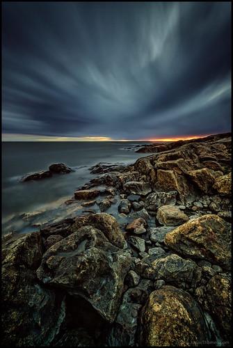 longexposure sunset sea water clouds wind cliffs vatten hav vind solnedgång moln nd400 fäboda klipps 4min långexponering