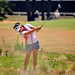 American Jane Park blasts out of the rough during US Women's Open opening round.