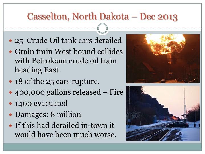 Details about Casselton, ND, derailment