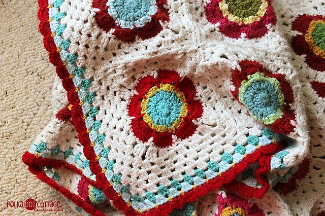 This is my favorite flower from my favorite crochet blanket