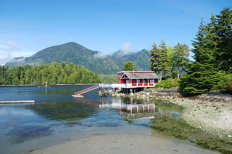 Idyllic setting in Tofino, West Coast Vancouver Island, British Columbia