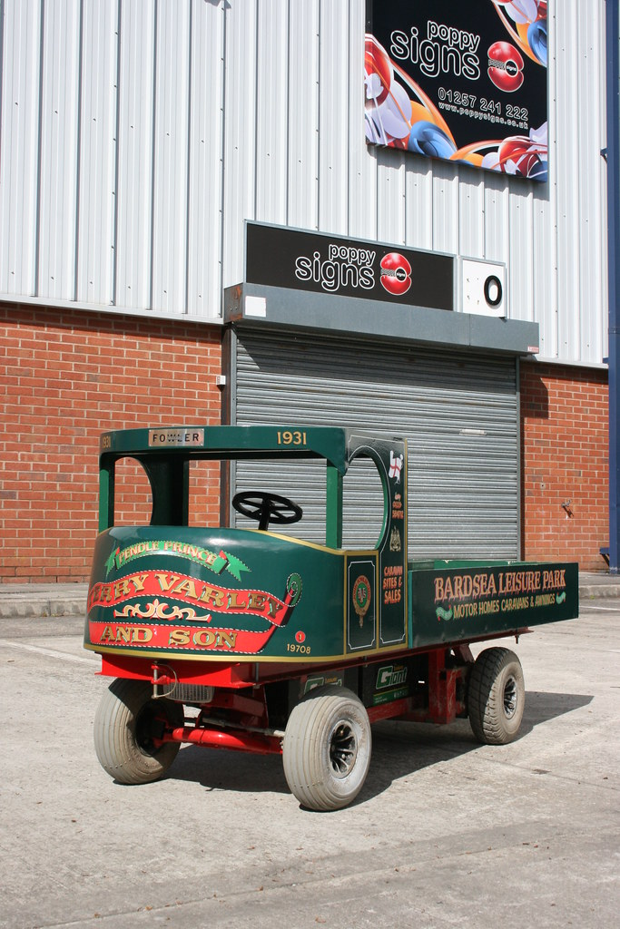 Full vehicle wrap digitally printed vinyl - miniature steam wagon