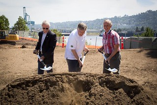 Daimler trucks groundbreaking in Portland, OR
