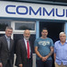 Justice Minister David Ford is pictured with (L-R) Councillor Michael Long, Castlereagh PCSP, Andy Tyrie, Chairman, Ballybeen Men's Motivation Group (BMMG) and Andrew Tyrie Snr..