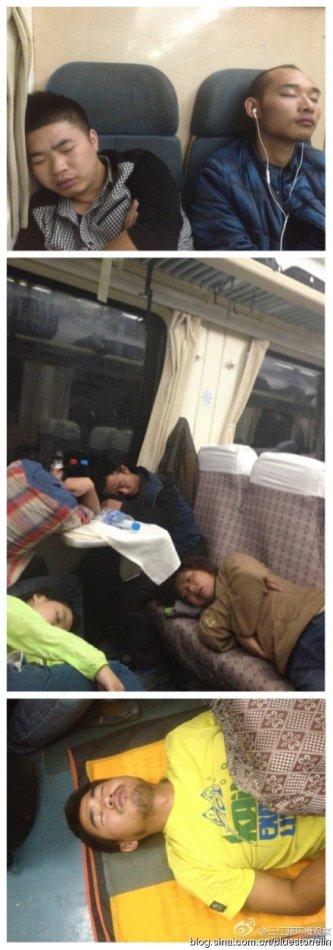 疲憊不堪的三江源環境觀察團隊。(圖片來源:林吉洋)