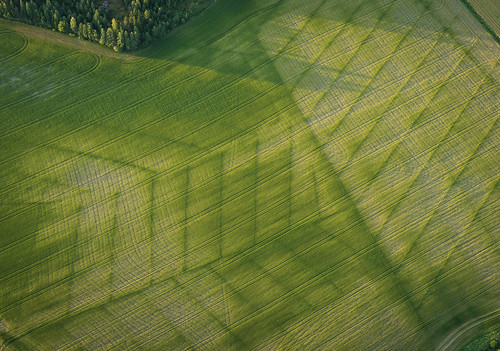 summer abstract nature finland landscape evening countryside europe patterns tracks olympus aerial fields hotairballoon omd mäntsälä em5 panasonic1235mmf28