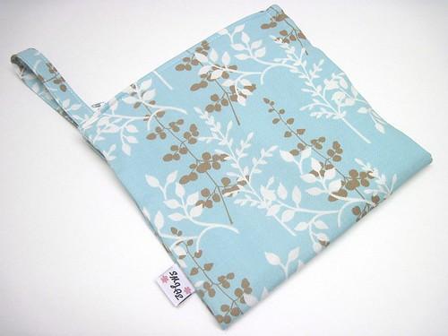 New Size Leaves on Blue Wet/Dry Bag