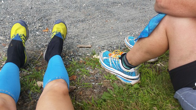Jo and I took one short sitting break at Jenne Farm, mile 45.