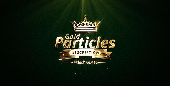 5种金色发光粒子logo演绎Ae模板