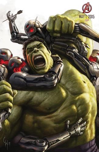 140728(2) - 2015年電影《Avengers: Age of Ultron》(復仇者聯盟2:奧創紀元)9大超級英雄合體海報出爐、台灣4/22隆重上映! 8