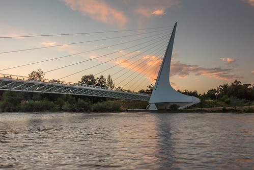 california sunset redding sacramentoriver turtlebay sundialbridge pwpartlycloudy