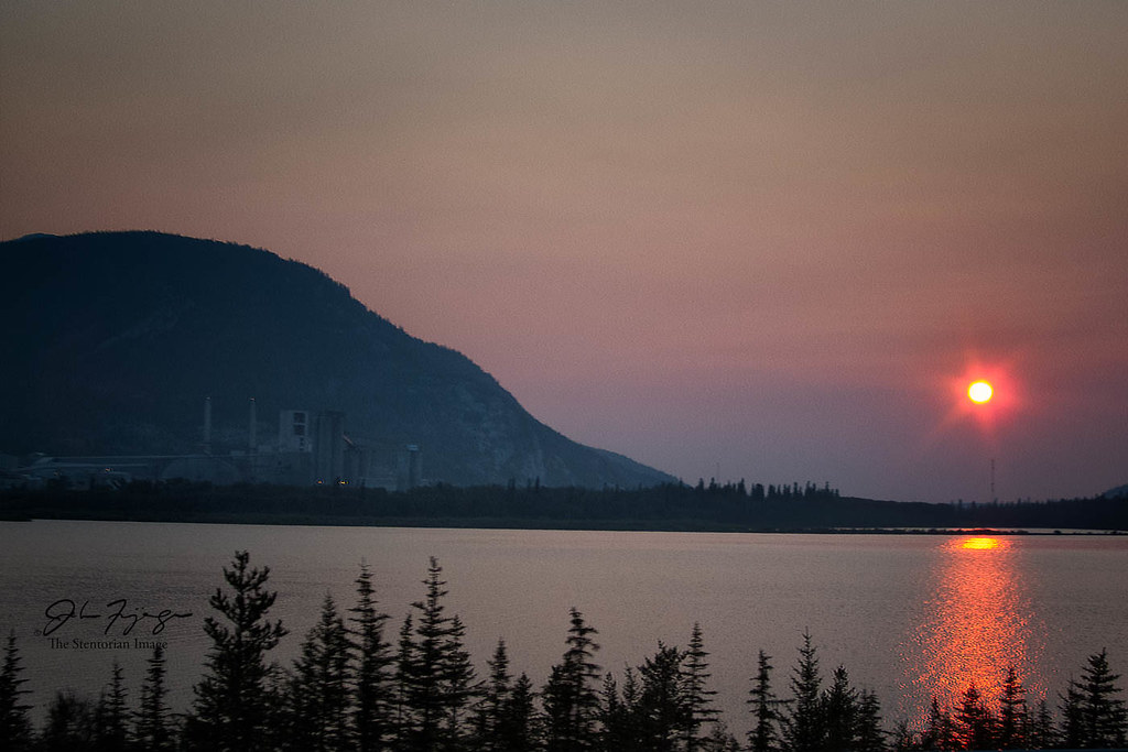 Red Sunrise At Lac Des Arc