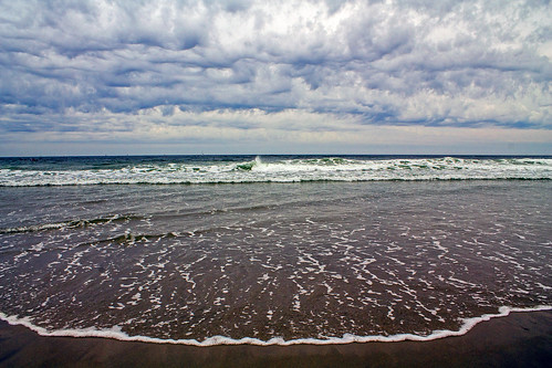 ocean sea summer beach water clouds coast newjersey sand cloudy tide july atlantic shore atlanticcity