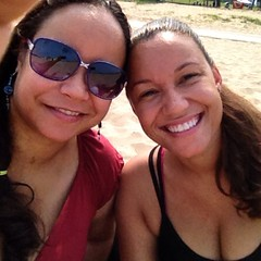 hanging at the beach all day with my sis and man #chicagosummer