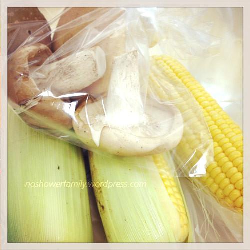 corn, mushroom