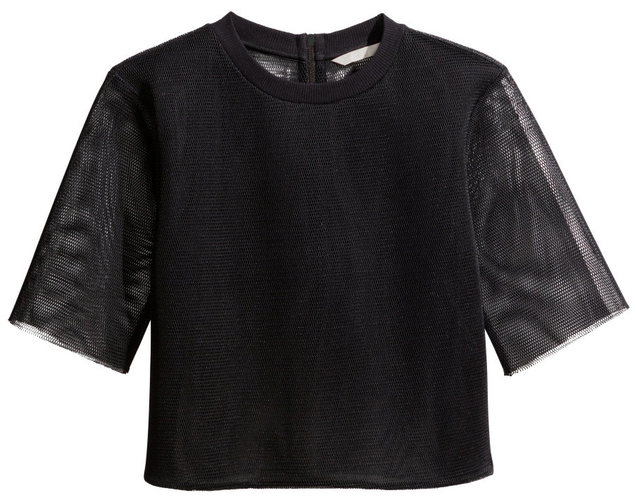 H&M short mesh top