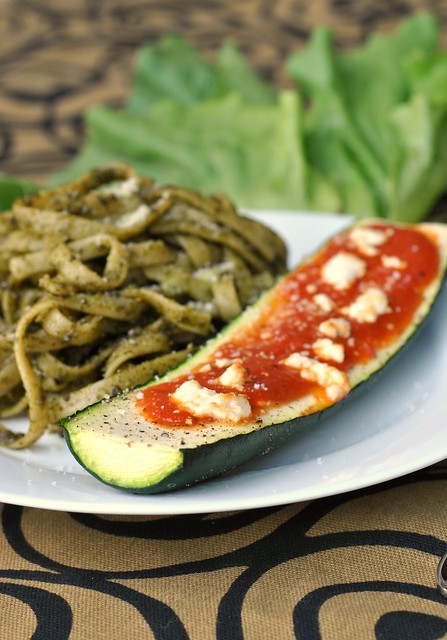 Goat Cheese and Marinara-Stuffed Zucchini 3