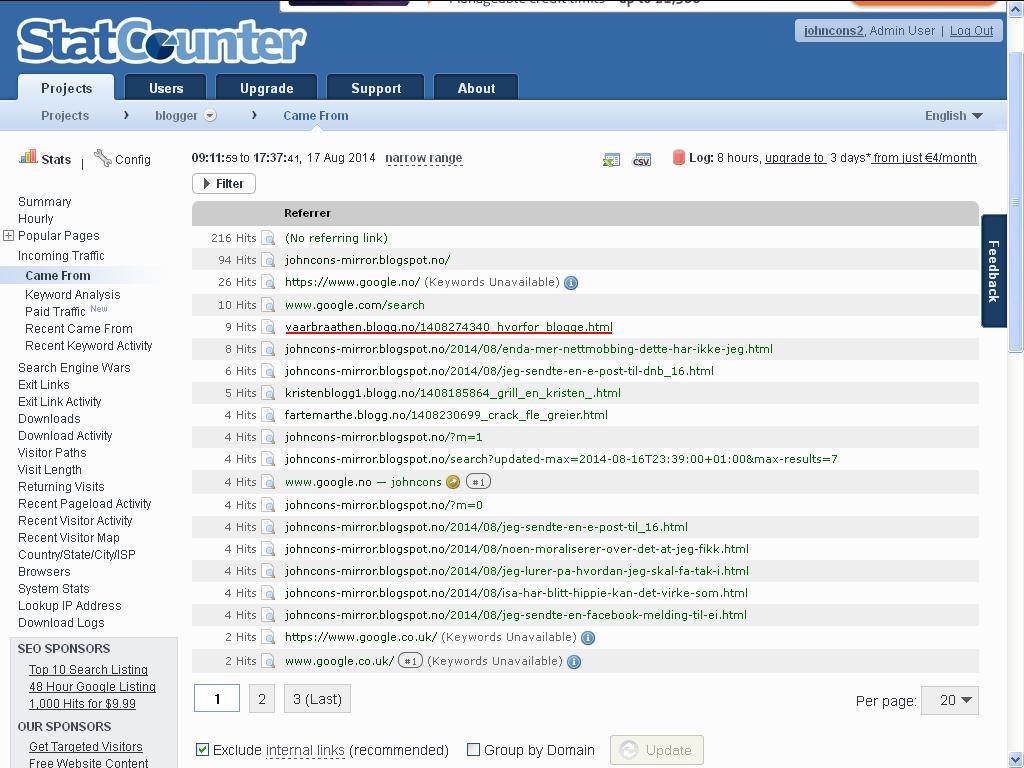 statcounter blogg drammen