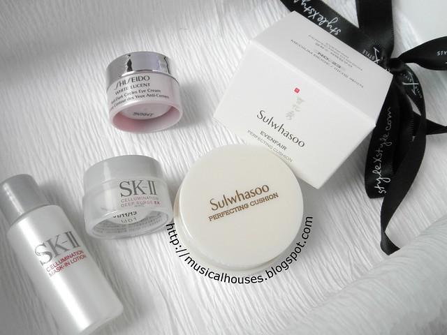StylexStyle Beauty Black Box SKII Sulwhasoo Shiseido Skincare