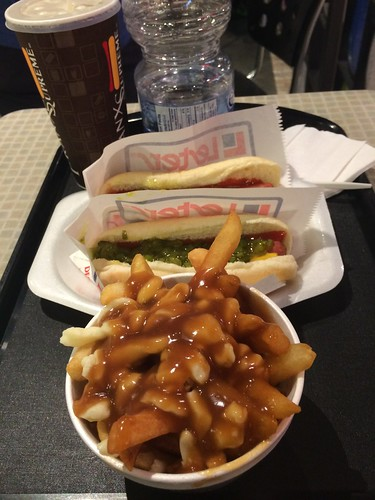 Poutine and hot dogs
