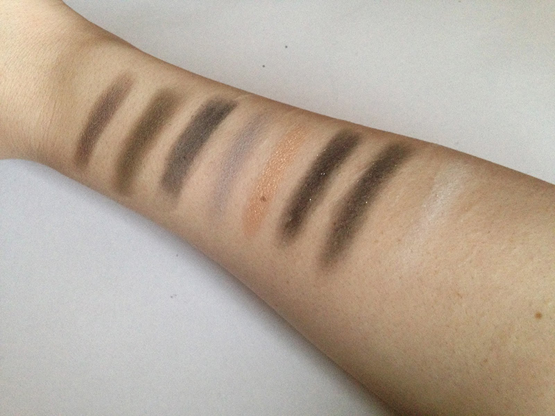 NYX Book of Smokey Collections Grey Smokey Swatches