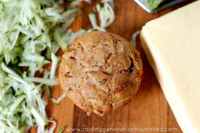 Cinnamon Raisin Zucchini Muffins :: Gluten, Egg, Nut, Dairy, & Refined Sugar Free