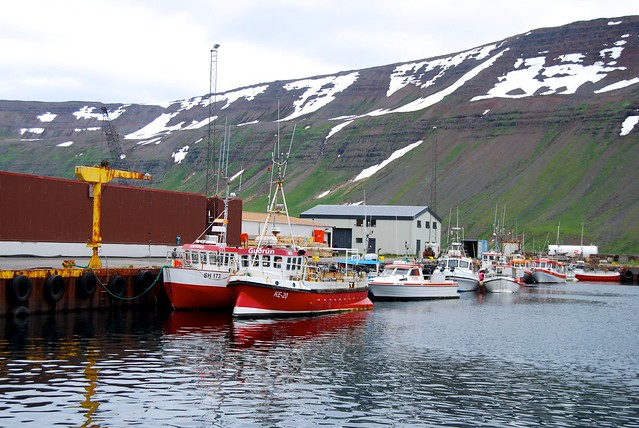 Fishing Port in Sudureyri, Iceland