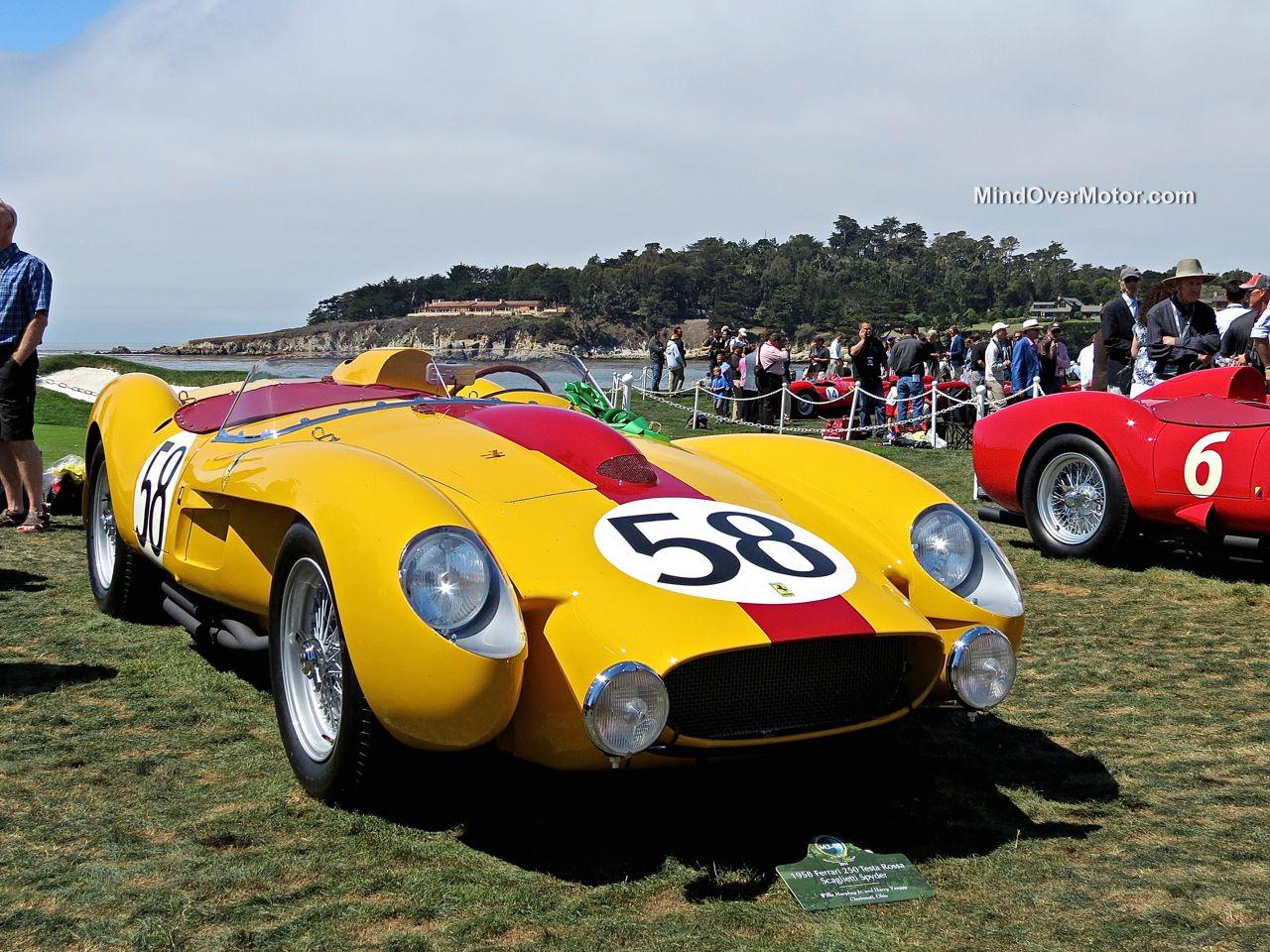 Pebble Beach 2014-Ferrari 250 Testa Rossa Yellow