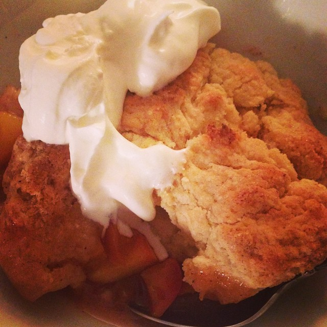 Why hello, peach cobbler!