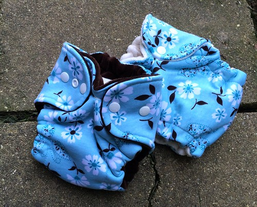 Bumstoppers Newborn Hybrid Fitted Butterfly Flowers