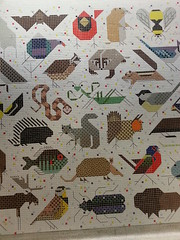 Charley Harper Mural in Cincinatti - perfect for mosaic quilts
