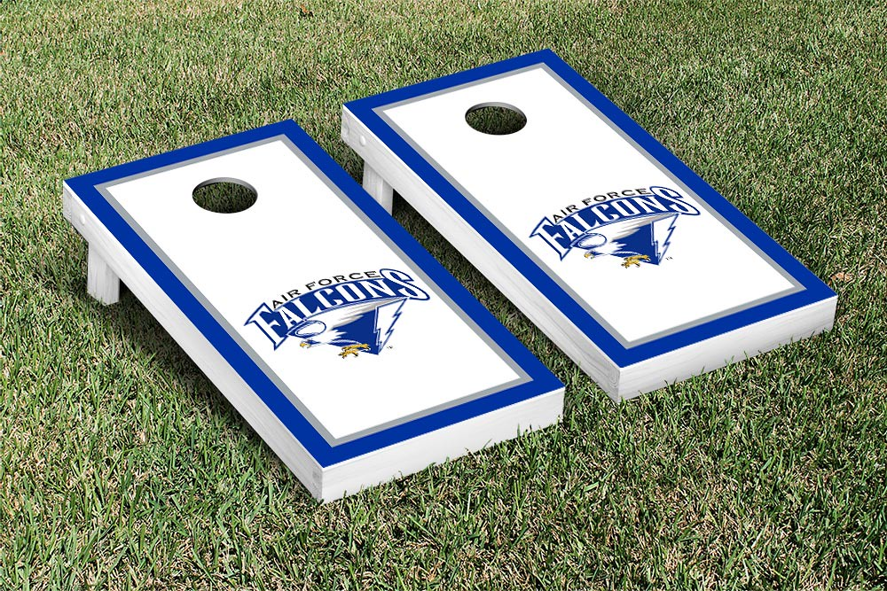 Air Force Academy Falcons Cornhole Game Set Border Wooden