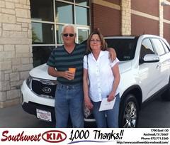 #HappyAnniversary to Joe  Gray on your 2011 #Kia #Sorento from Paula Lovejoy at Southwest KIA Rockwall!