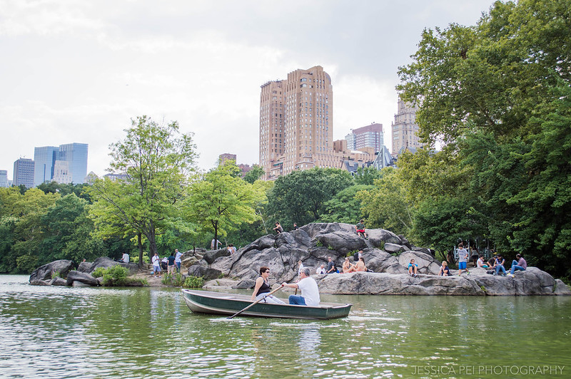 central park new york city boat canoeing