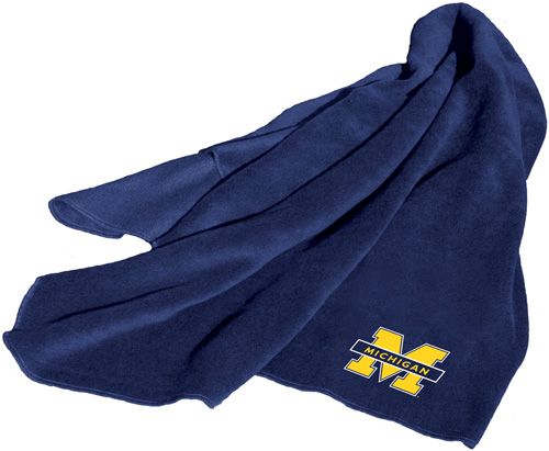 Michigan Wolverines NCAA Fleece Throw
