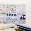 One more week in my journal... #handmadejournal #handschrift #handlettering #lettering #artjournal #arteveryday #bythesea #washitape #map #muji #atlantic #norway #scandinavia #norwegen #watercolorpencils #ced2014