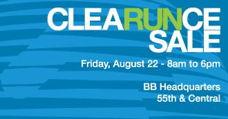 CleaRUNce Sale