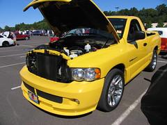 stock car racing(0.0), compact sport utility vehicle(0.0), automobile(1.0), automotive exterior(1.0), pickup truck(1.0), dodge ram rumble bee(1.0), wheel(1.0), vehicle(1.0), truck(1.0), rim(1.0), bumper(1.0), land vehicle(1.0), motor vehicle(1.0),