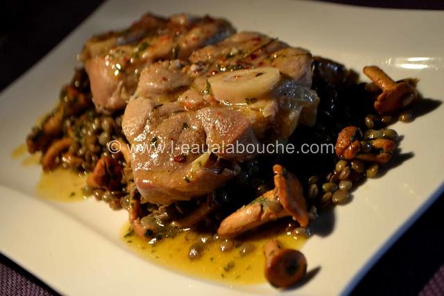 Jarrets de Porc à la Bière Sur Lentilles aux Chanterelles © Ana Luthi Tous droits réservés 040