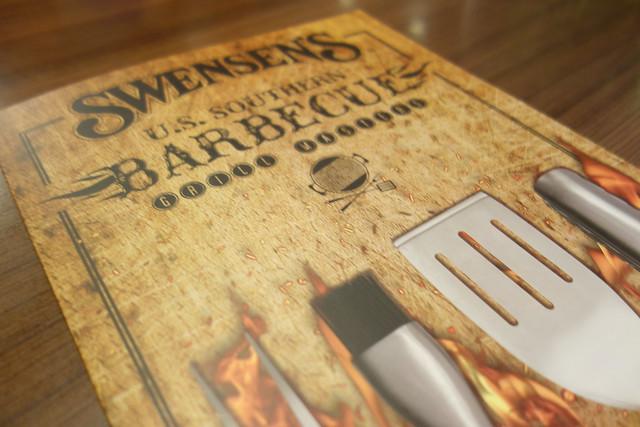 Swensen's U.S. Southern Barbecue Favourites Menu