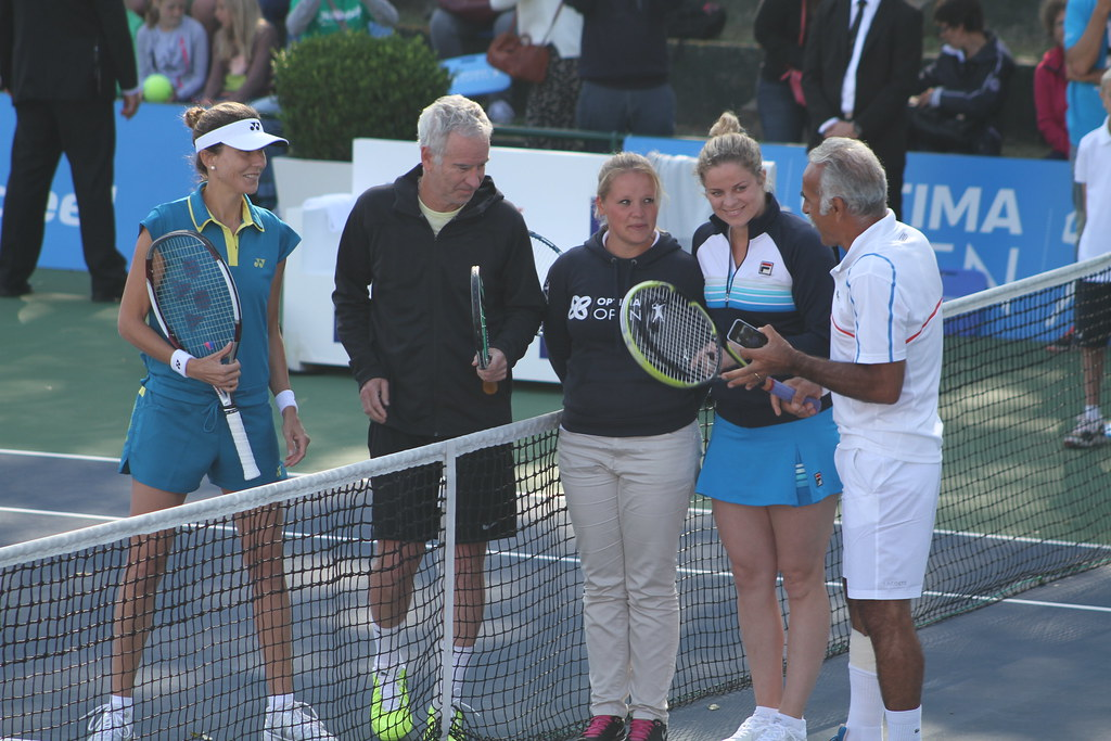 Monica Seles, John McEnroe, Kim Clijsters and Mansour Bahrami