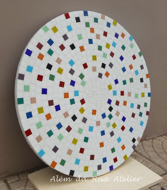 Prato giratório de mosaico