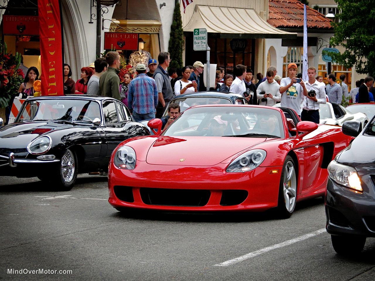Red Porsche Carrera GT in Carmel front